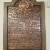 Abertillery County Intermediate School - bronze memorial to former pupils and teachers of the school who fell during the Great War