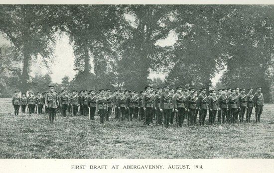 3rd Battalion Monmouthshire Regiment - first draft at Abergavenny, August 1914