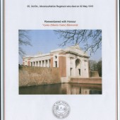 Commonwealth War Graves Commission's dedication to Albert Powles