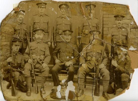 Senior ranks of Tredegar men of the 3rd Battalion of Monmouthshire Regiment in 1914
