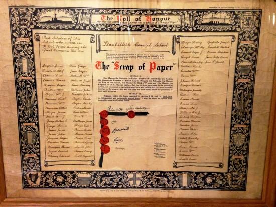 Llanhilleth Council School Roll of Honour