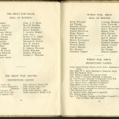 Abertillery County School 1946 Jubilee Souvenir Roll of Honour