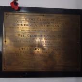 Bailey Street Presbyterian Chapel WW1 memorial plaque