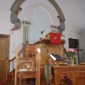 Bailey Street Presbyterian Chapel interior - WW1 plaque on right