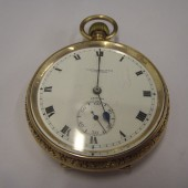 Idris James Lewis - pocket watch - gift from town of Brynmawr