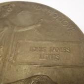 Idris James Lewis - death plaque