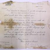 Idris James Lewis - British War & Victory medals, accompanying letter