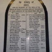 Holy Trinity Church WW1 Memorial Plaque, Nantyglo