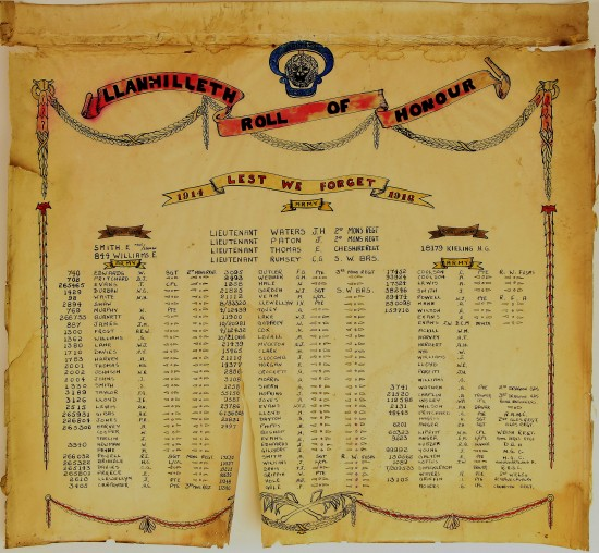 Llanhilleth Roll of Honour 1914 - 1918