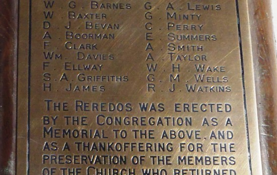 St James' Church WW1 Memorial, Georgetown, Tredegar