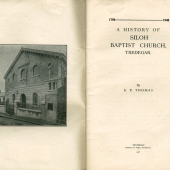 Siloh Baptist Church, Bridge Street, Tredegar - History extracts title page
