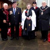 Armistice day commemorative service at Cwm, 11 November 2015