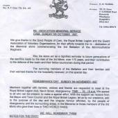 Re-dedication Service at Cwm, 5 October 1997