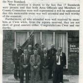 British Legion Cwm Branch outside Cwm Library, 1979