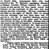 South Wales Gazette 15 April 1915