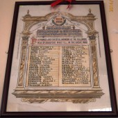 Saint Andrew's Church, Beaufort Hill - Beaufort Soldiers & Sailors Benevolent Fund - Roll of Honour