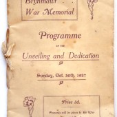 Dedication of War Memorial 30 Oct 1927 (1)