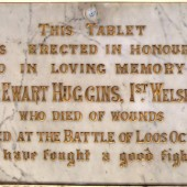 Private Ewart Huggins' memorial