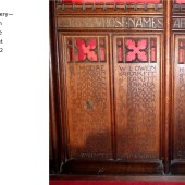 Carved Oak Rood Screen At St Michael's Church, Abertillery Panels 16, 17 & 18