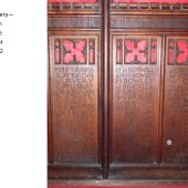 Carved Oak Rood Screen At St Michael's Church, Abertillery Panels 5, 6 & 7