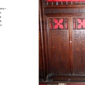 Carved Oak Rood Screen At St Michael's Church, Abertillery Panels 8 & 9
