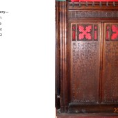 Carved Oak Rood Screen At St Michael's Church, Abertillery Panels 14 & 15