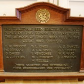 Ebbw Vale County School WW1 Plaque