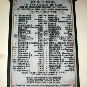 Parish of Saint David's, Beaufort, Ebbw Vale - First World War Memorial Plaque