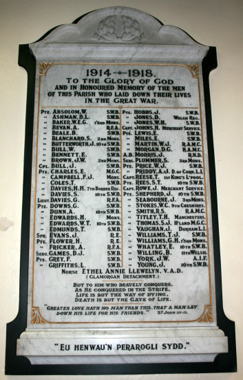 WWI Plaque