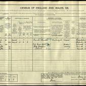 William George Barnes, 1911 census