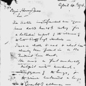 Unflattering letter relating to Gwillym's health and cause of death part 1