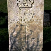 Ivor Booth's grave, Ebbw Vale cemetery