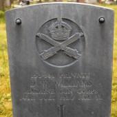 David William Williams' grave, Cefn Golau Cemetery, Tredegar