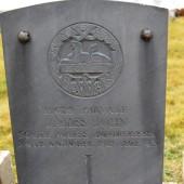 James John's grave at Cefn Golau cemetery, Tredegar