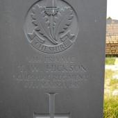 Thomas William Hickson's grave at Cefn Golau cemetery, Tredegar