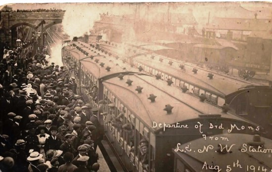 Departure of the 3rd Mons from Ebbw Vale, 5th August 1914.