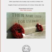 CWGC memorial certificate