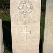 Dan Higgins' commemorative stone at Ebbw Vale Cemetery