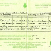 John Henry Evans Marriage Certificate | Alan James