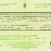 David John Bradley, Marriage certificate. | Alan James