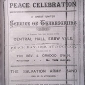 United Thanksgiving Service, Peace Day, Saturday 19 July 1919