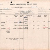 CWGC Graves Registration Report - Page 1