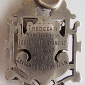 Tredegar war distress football tournament 1916-17 {silver fob} | Kevin Evans