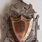 Tredegar war distress football tournament 1916-17 {silver fob}   Kevin Evans