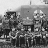 Abertillery people provide World War I field ambulance.