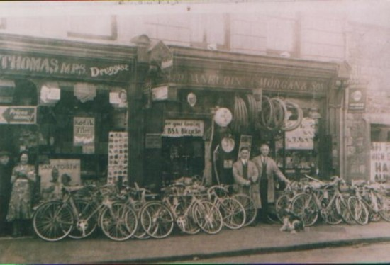Aneurin Morgan's shop