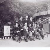 Staff At Tredegar Railway Station