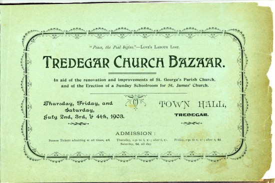 Tredegar Church Bazaar Page 3