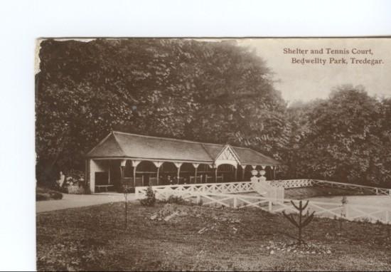 Shelter And Tennis Court Bedwellty Park Tredegar