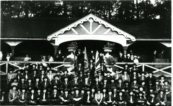Tredegar Girl Guide Company In Bedwellty Park 1923
